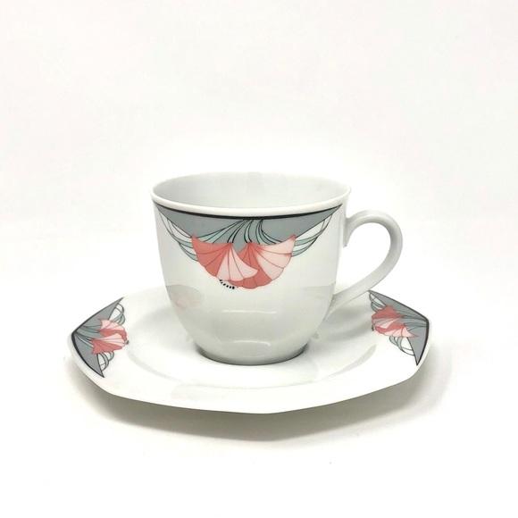 Vintage Other - Vintage 80's Art Deco inspired Teacup & Saucer
